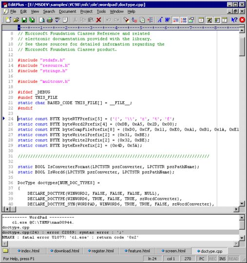 EditPlus - Text editor with FTP FTPS and sftp capabilities