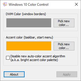 Download Windows 10 Color Control V11 Gratis Freeware