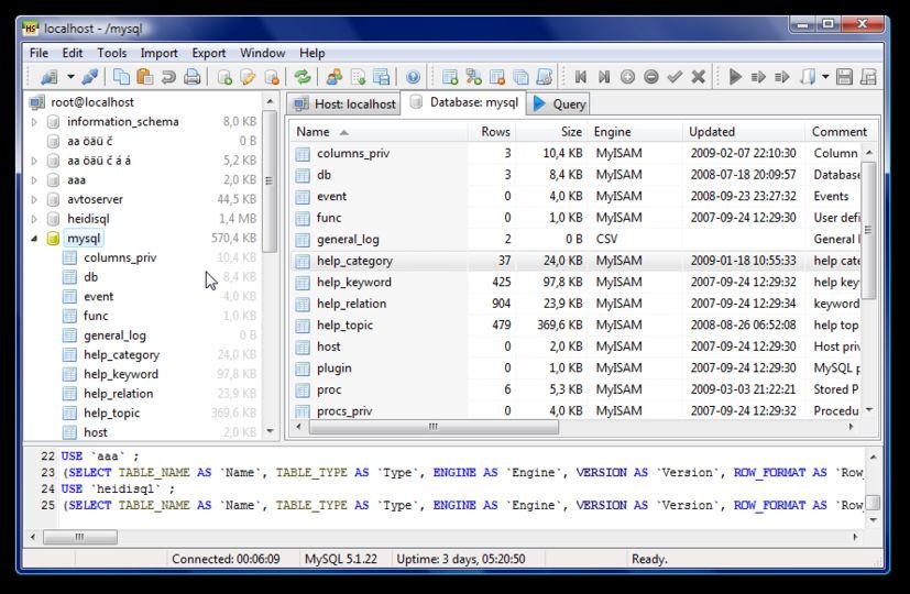 WatFile.com Download Free Lataa HeidiSQL v8 3 (ilmainen ohjelma open source) - download fi