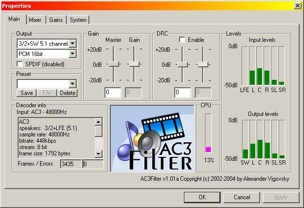 Download AC3Filter v2.6.0b (open source) - AfterDawn: Software downloads