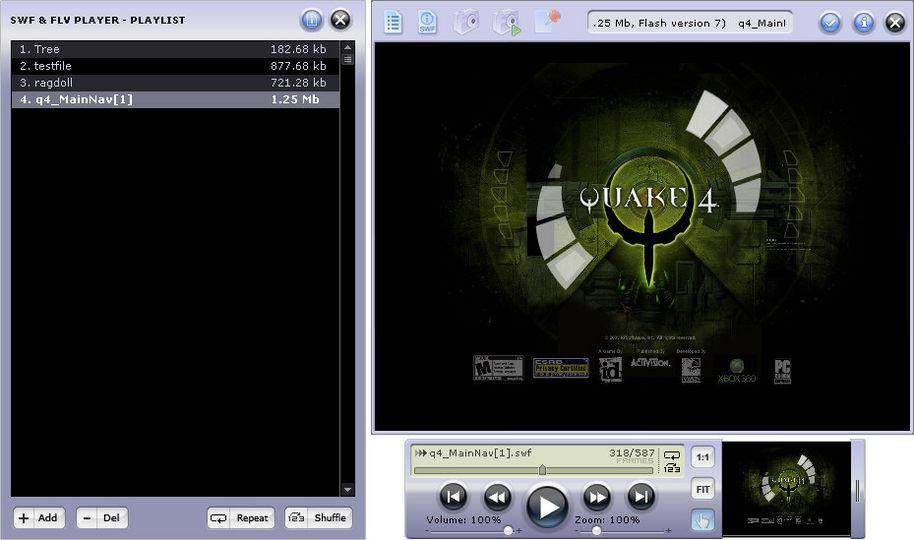 download swf amp flv player v30445106 freeware