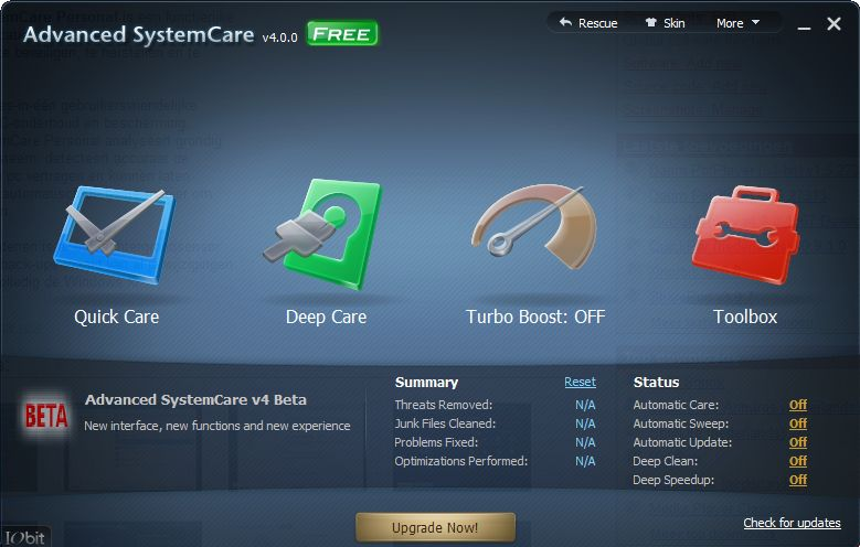 Advanced SystemCare v4.0.0