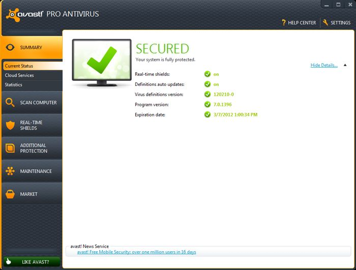 avast antivirus how to clear scan history