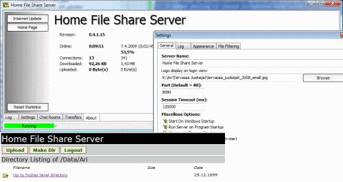 File Share Server Home File Share Server V0.7.5