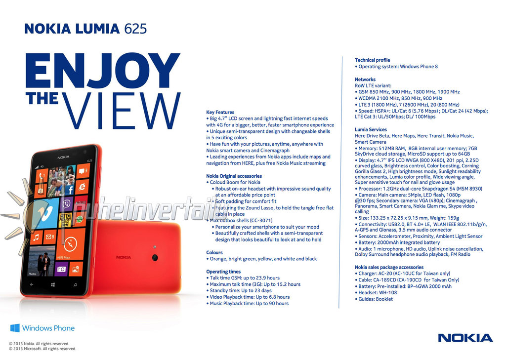 Nokia lumia 625 unofficially revealed it news africa africa s