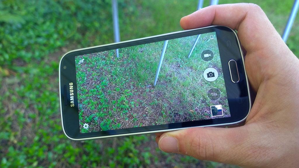 Samsung Galaxy K Zoom kuvattaessa