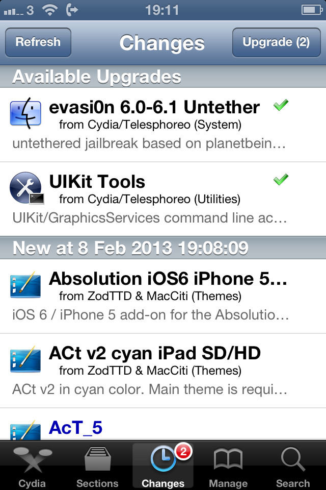Cydia ( All iOS Versions ) iPhone and iPad