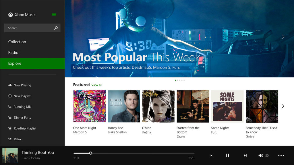 Microsoft redesigns Xbox Music app for Windows 8.1