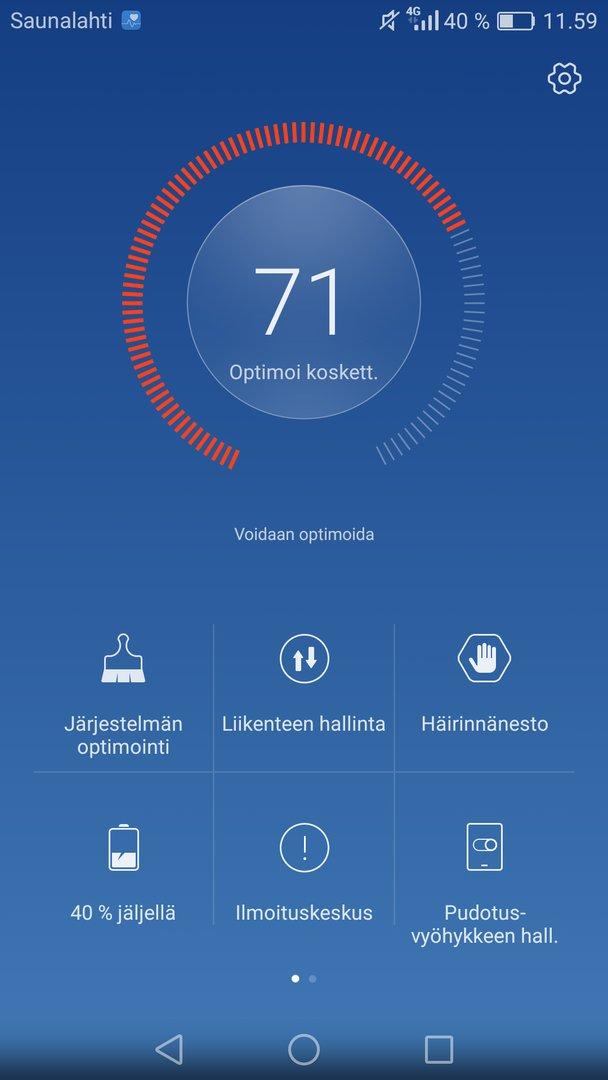 Huawei Honor 8 - käyttöliittymä