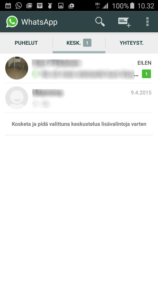whatsapp päivitys ei toimi Nokia