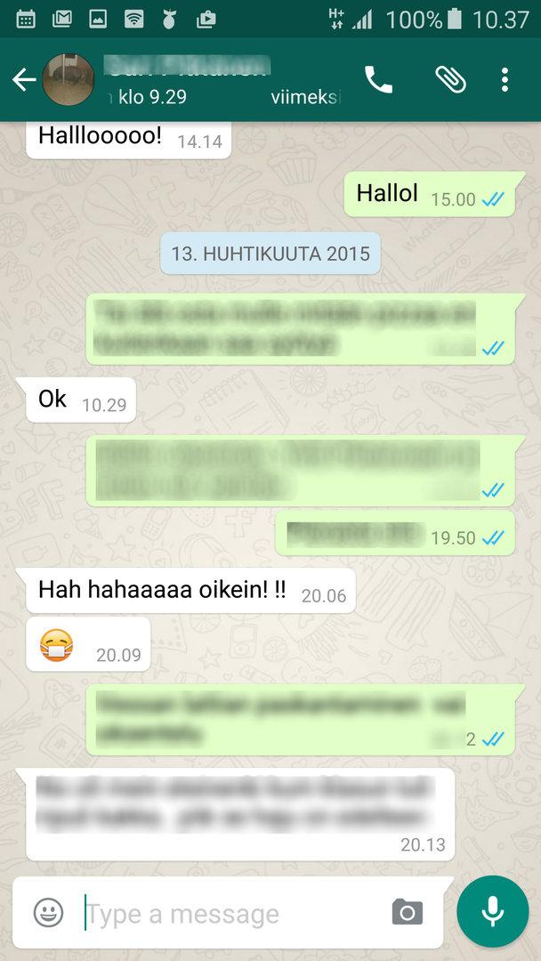 whatsapp päivitys ei toimi Ylojarvi