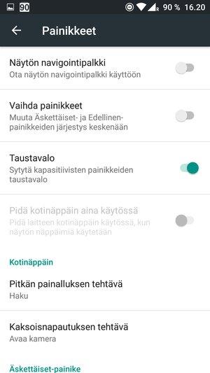 OnePlus 3 - painikkeiden kustomointi