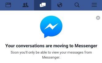 Facebook pakottaa Android-k�ytt�j�t Messengeriin