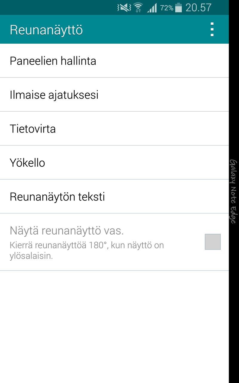 Samsung Galaxy Note Edge - käyttöliittymä