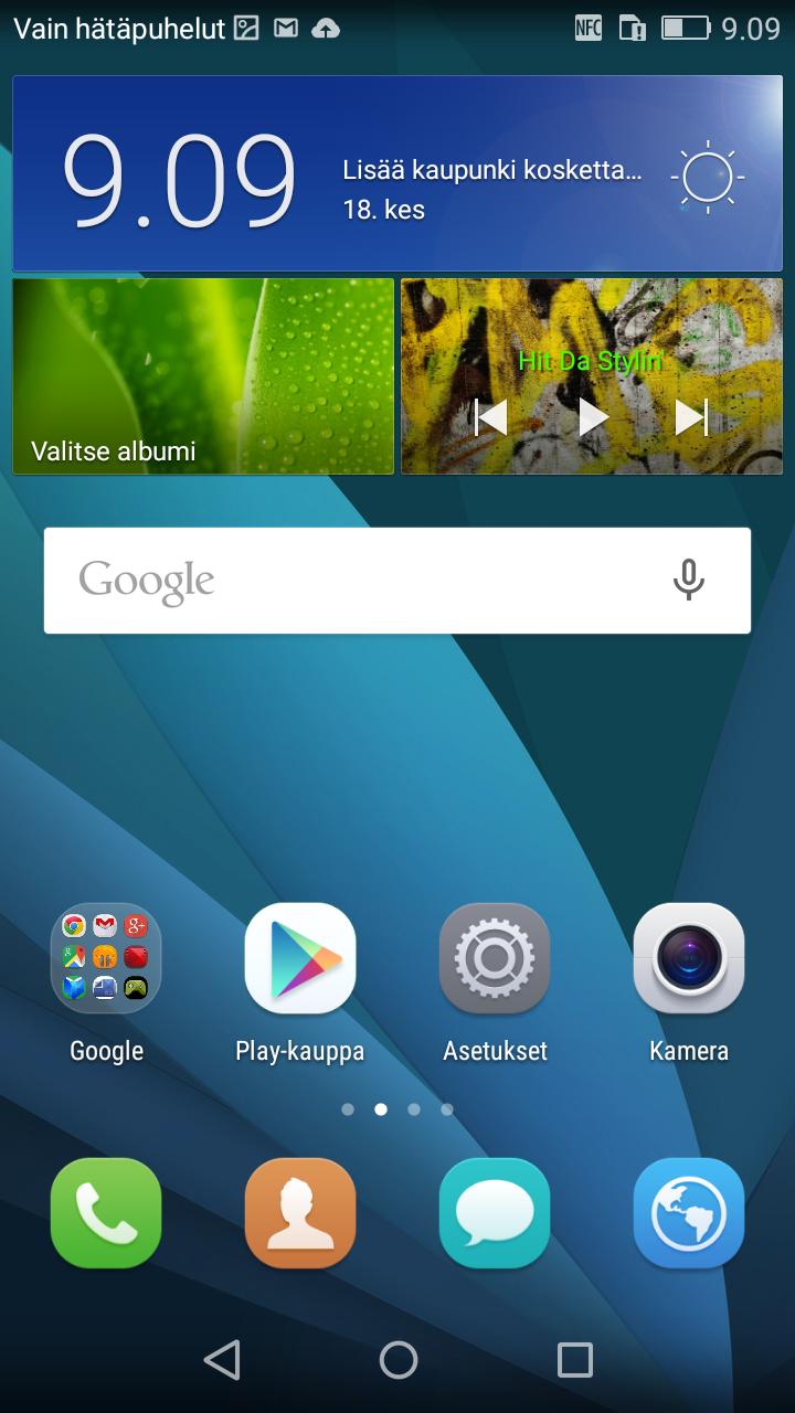 Huawei P8 Lite aloitusn�ytt�