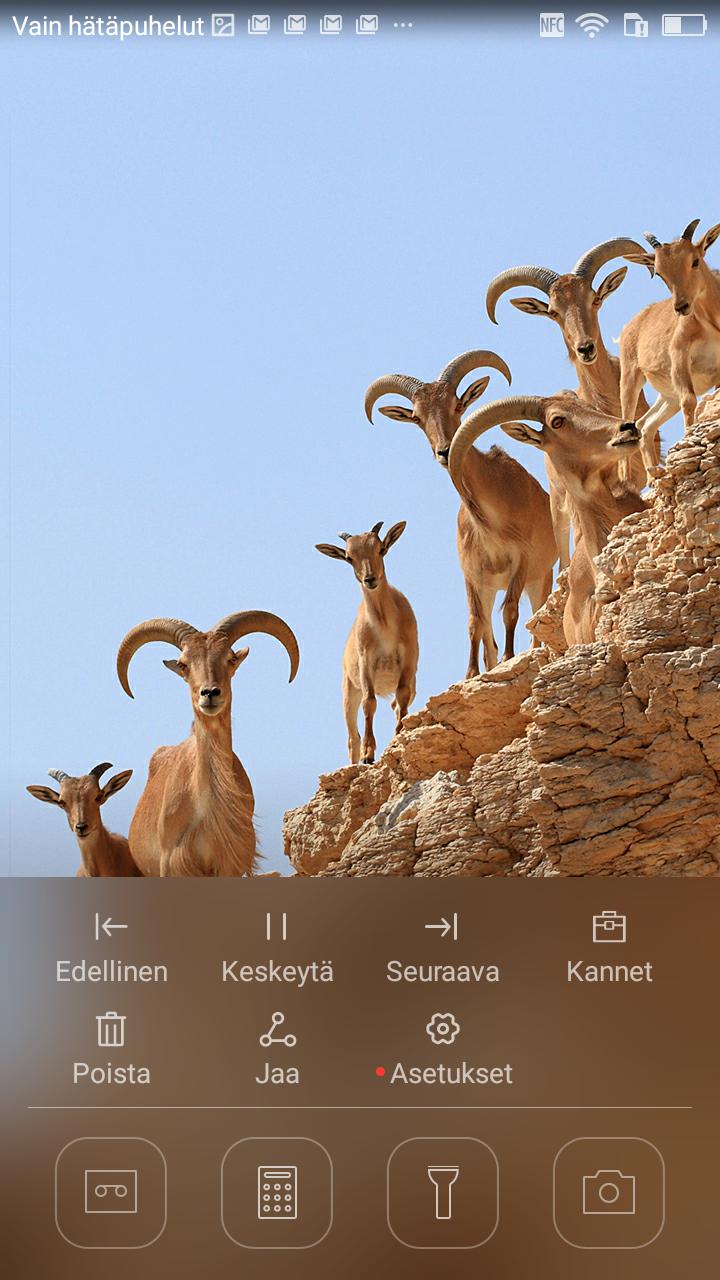 Huawei P8 Lite ohjauskeskus