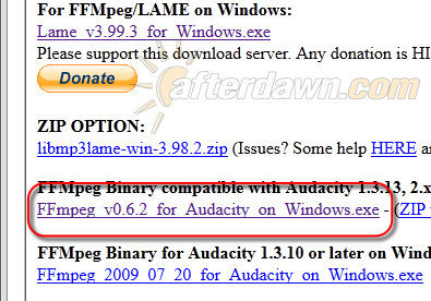 Download FFmpeg for Audacity - AfterDawn.com