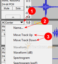 Audacity Track Options - AfterDawn.com