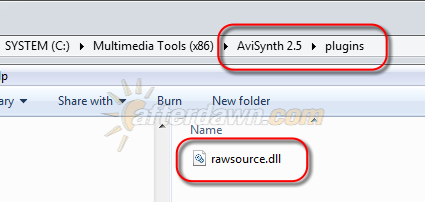 Install AviSynth RawSource plugin - AfterDawn.com