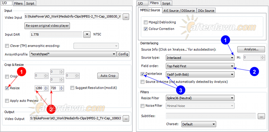 MeGUI AVS Script Creator bobbing (bob deinterlacing) - AfterDawn.com