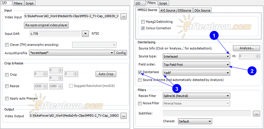 MeGUI AVS Script Creator standard deinterlacing - AfterDawn.com