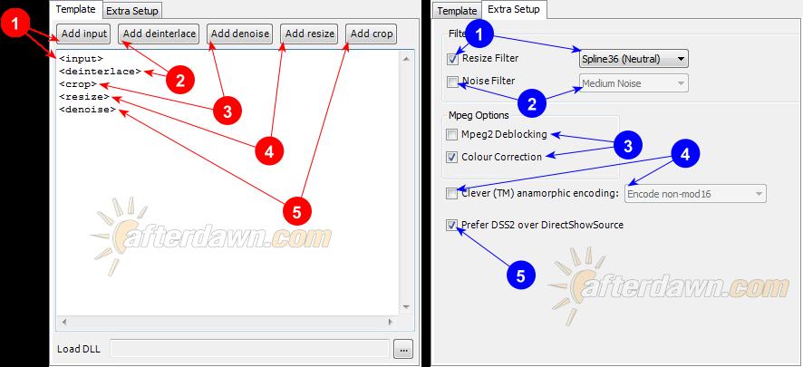 MeGUI AVS Script Creator Profile Editor options - AfterDawn.com