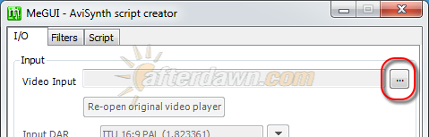 Open video file in MeGUI AVS Script Creator - AfterDawn.com