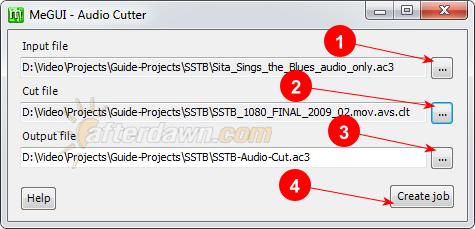 MeGUI's Audio Cutter interface - AfterDawn.com