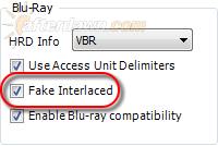 Set Fake Interlaced option for Blu-ray encoding in MeGUI - AfterDawn.com