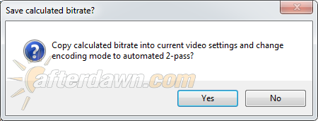 MeGUI applying the calculated bitrate - AfterDawn.com