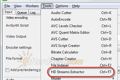 Opening the MeGUI HD Streams Extractor - AfterDawn.com