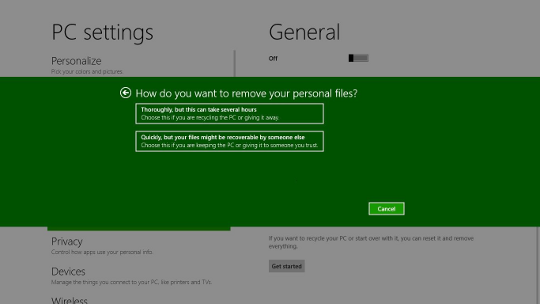 Windows 8 Reset interface - AfterDawn.com