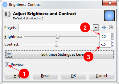 Brightness-Contrast dialog in GIMP - AfterDawn.com