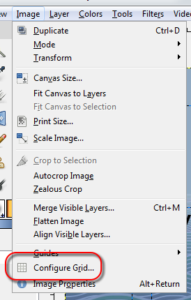 Open GIMP's grid configuration dialog - AfterDawn.com