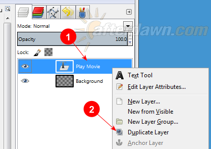 Duplicating a Text layer in GIMP - AfterDawn.com