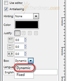 Set GIMP text box style to Dynamic - AfterDawn.com