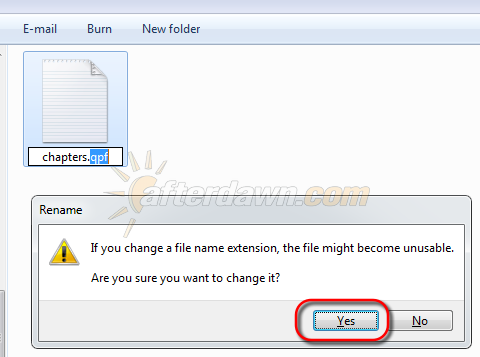 Change file extension via Windows Explorer rename - AfterDawn.com