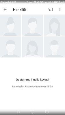 Google Kuvat, Henkilöt
