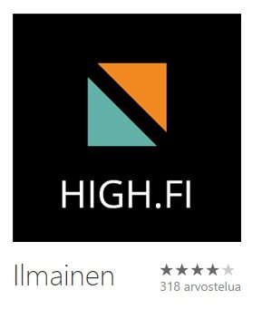 Windows Phone average rating in Finland