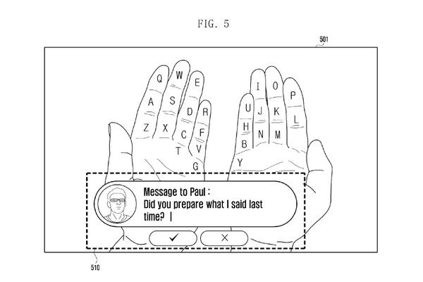 Samsung patentoi lisättyä todellisuutta hyödyntävän virtuaalinäppäimistön