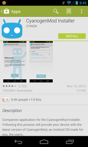 CyanogenMod Installer app taken down from the Google Play Store