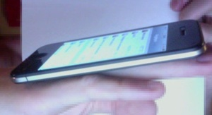 Here is another purported iPhone 5 pic