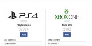 Amazon takes down Facebook poll after PS4 destroys Xbox One